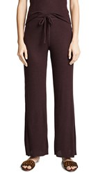 Nation Ltd. Ltd Westside Ribbed Knit Pants Aubergine