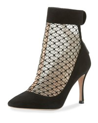 Red Valentino Pointed Toe Suede Bootie 0No