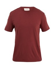 Solid And Striped Classic Cotton T Shirt Burgundy