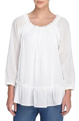 Women's Catherine Catherine Malandrino 'Joan' Cotton Peasant Blouse