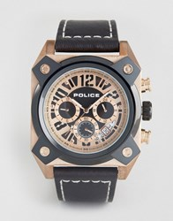 Police Watch With Black Dial And Black And Gold Case Black
