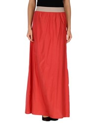 Gotha Skirts Long Skirts Women Red