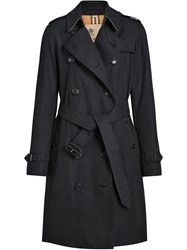 Burberry The Kensington Heritage Trench Coat Blue