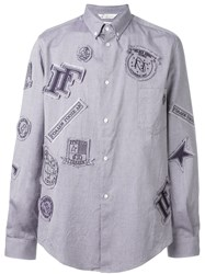 Golden Goose Deluxe Brand Patched Shirt Blue