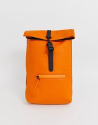 Rains Rolltop Rucksack Orange