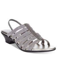 Karen Scott Estevee Sandals Only At Macy's Women's Shoes Pewter