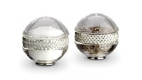 L'objet Braid Spice Jewels Salt And Pepper Set Platinum