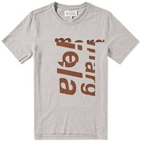 Maison Martin Margiela 10 Cut And Sew Tonal Logo Tee Grey