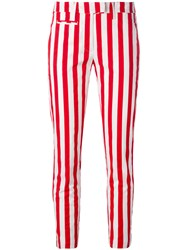Dondup Striped Cropped Pants Red