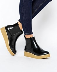 Monki Clean Calf Boot Black