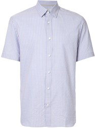 Gieves And Hawkes Striped Short Sleeve Shirt Blue