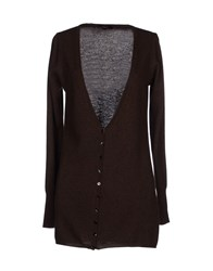 Laltramoda Knitwear Cardigans Women Dark Brown
