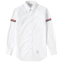 Thom Browne Grosgrain Arm Band Solid Poplin Shirt White