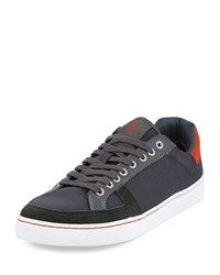 Penguin Rave Nylon Low Top Sneaker Dark Shadow