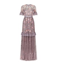 Needle And Thread Ditsy Scatter Embellished Gown Female Purple