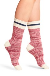 Free People Women's Albury Crew Socks Red