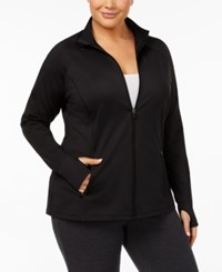Ideology Plus Size Performance Track Jacket Created For Macy's Noir