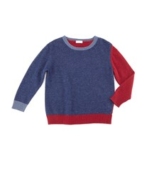 Il Gufo Knit Colorblock Pullover Sweater Blue Red
