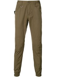 Publish Cuffed Chinos Men Cotton Polyester 28 Green