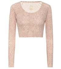 Varley Arizona Snake Print Sports Top Pink