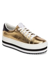 Marc Jacobs Grand Platform Sneaker Gold