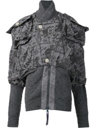 Vivienne Westwood Anglomania Mini 'Clint Eastwood' Bomber Jacket Grey