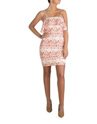 Guess Floral Print Flap Over Dress White Multicolor
