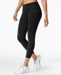 Ideology Heathered Cropped Leggings Created For Macy's Classic Black