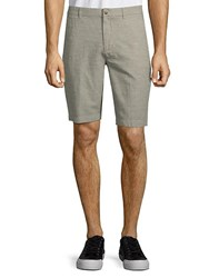 Ben Sherman Tonic Cotton Linen Shorts Champagne