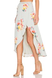 Privacy Please Java Wrap Skirt Mint