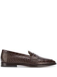 Etro Textured Loafers Brown
