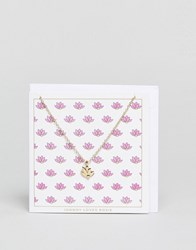Johnny Loves Rosie Lotus Giftcard Necklace Gold