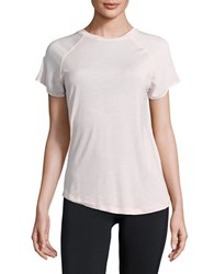 Bench Mixed Texture Performance Tee Chalk Pink