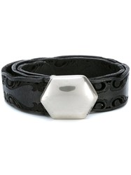 Golden Goose Deluxe Brand Laser Cut Belt Black