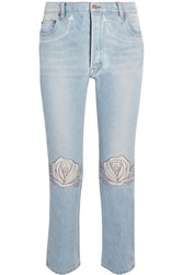 Bliss And Mischief Song Of The West High Rise Straight Leg Jeans Light Denim