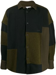 Ambush Patchwork Fleece Jacket Green