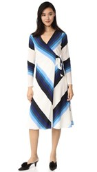 Diane Von Furstenberg Long Sleeve Wrap Dress Royale True Blue