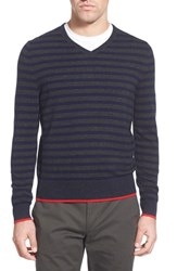 Ag Jeans Men's Ag 'Renton' Stripe Wool And Cashmere V Neck Sweater