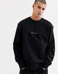 Mennace Essentials Oversized Sweat In Black