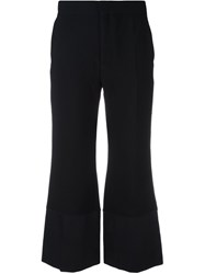 See By Chloe Contrast Hem Trousers Blue