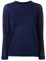 Sara Lanzi Crew Neck Jumper Blue