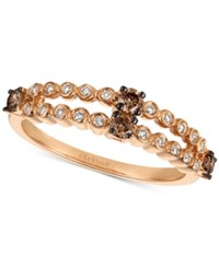 Le Vian Chocolatier Diamond Two Row Ring 3 8 Ct. T.W. In 14K Rose Gold