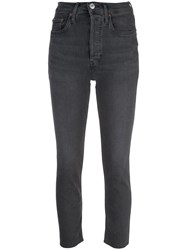 Re Done Cropped Skinny Jeans Grey