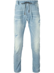 Diesel Distressed Drawstring Jeans