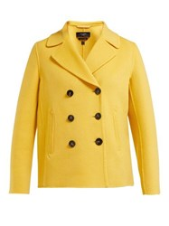 Weekend Max Mara Pino Pea Coat Yellow