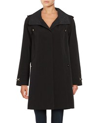 Gallery Removable Hood Rain Coat Black