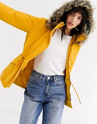 Only Fur Parka Yellow