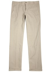 Norse Projects Aros Sand Brushed Twill Trousers Khaki