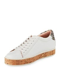 Kate Spade Amy Cork Embellished Sneaker White