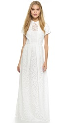 Carven Lace Gown White